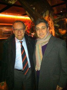 Cristiano Ostinelli (General Manager, Casa Ricordi) with Di Vittorio